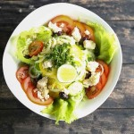 Greek Salad with raw food