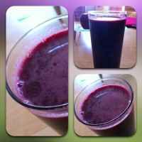 Fresh juice of beets, carrots, celery, grapefruit and lemon.
